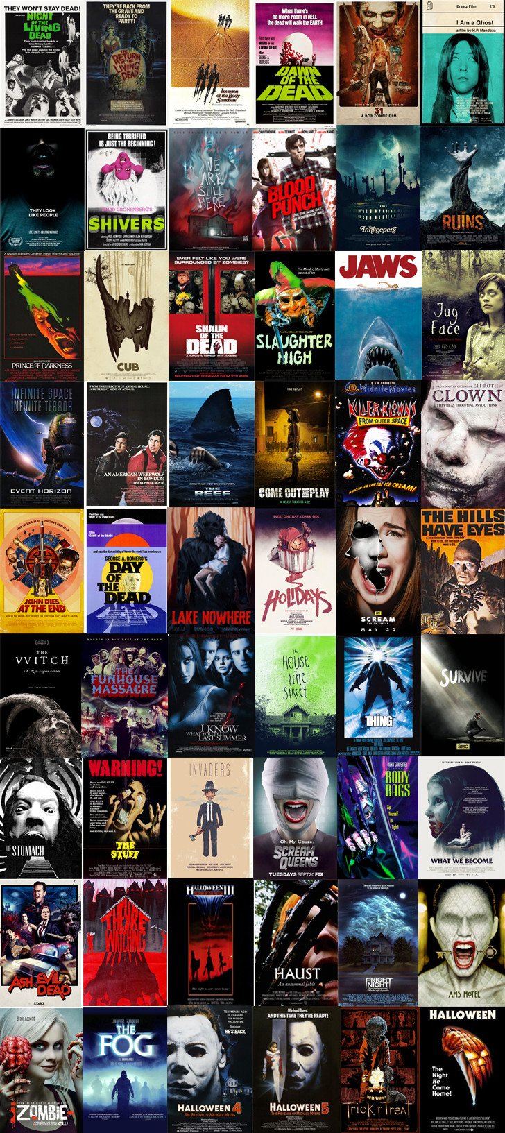 October 2016's Horror Selections