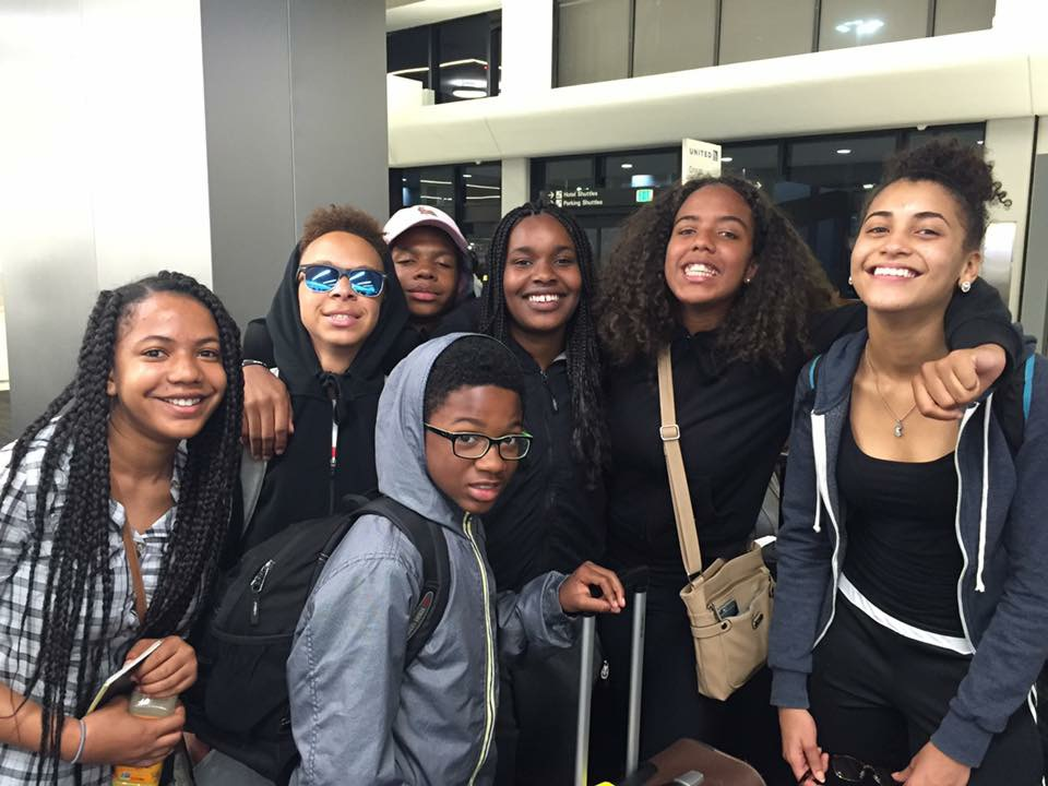 7 of 11 travelers.  Maya, Justin, Adjai, Asa, Indigo, Alona and Cali (not present in the photo Fela, Derriona, Sage, and Qadir)