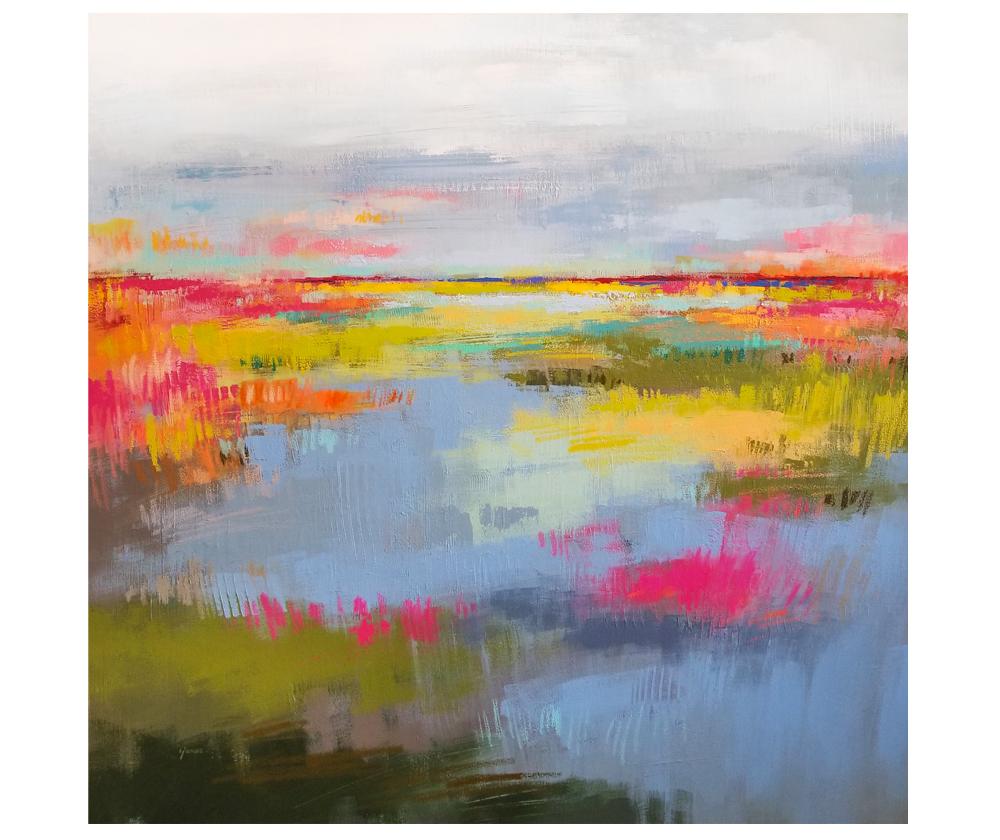 """Kai Path"" mixed media on canvas. 36x36"""