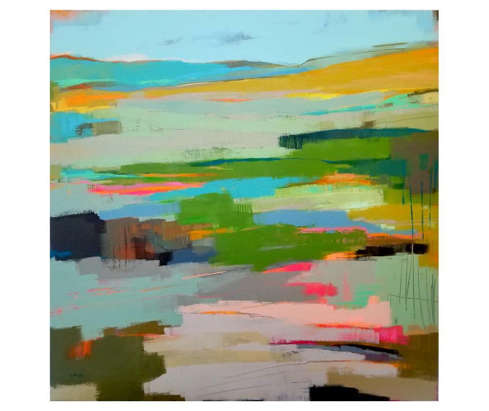 """Prospect Point"" mixed media on canvas. 40x40"