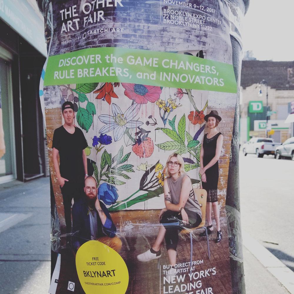 Promo flyers around my hood for The Other Art Fair Nov. 2017