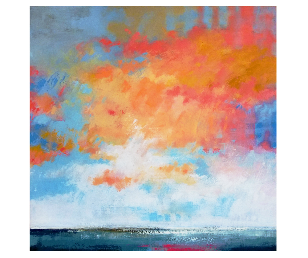 """Luminous Poise"" acrylic on canvas. 40x40"""