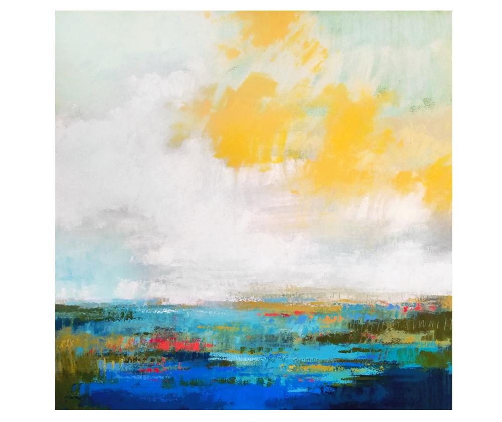 """""""Stouthearted"""" acrylic on canvas. 36x36"""""""