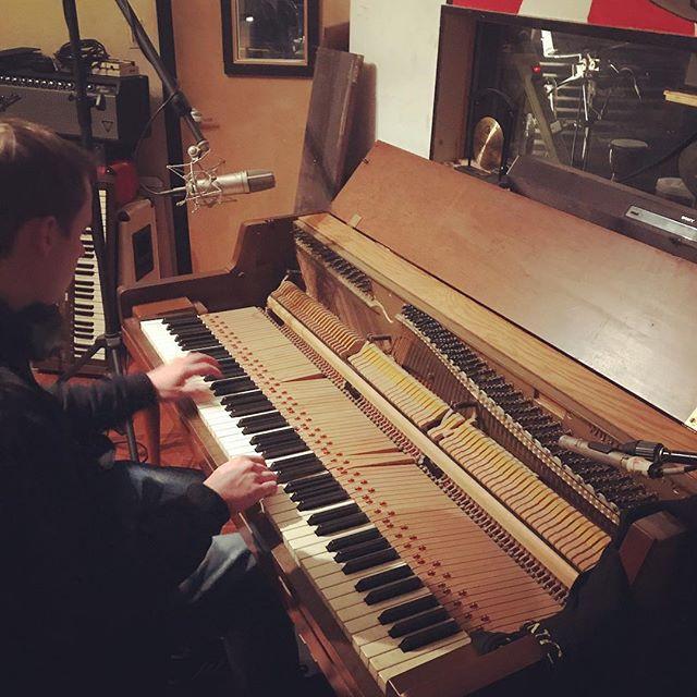 @PatNowak1 recording a few piano tracks for upcoming @risingsunallstars & others! #statenisland #music #piano #recording #neumann #sennheiser #akg #wurlitzer