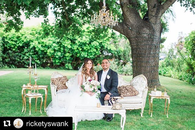 #Repost @ricketyswank ・・・ We adore this couple and this stunning lounge set up featuring Francine our French large sofa and our stunning antique crystal chandelier!! Overjoyed to see Vanessa and John's wedding was also featured on @aisleplanner  Amazing vendors: Venue @lajollawomansclub Flora rhapsodyinblooms Photography @agajones Wedding planner @havenhouseevents  #aisleplanner #weddinglounge #wedding #lajollawomansclub #ricketyswank #ido #weddingrentals #chandelier #vintagerentals