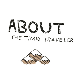 "The timid traveler is Virginia. She travels with (not timid), very adventurous and thrill-seeking boys: Shawn and Miles. Find out how Virginia got the name ""timid traveler""  here ."