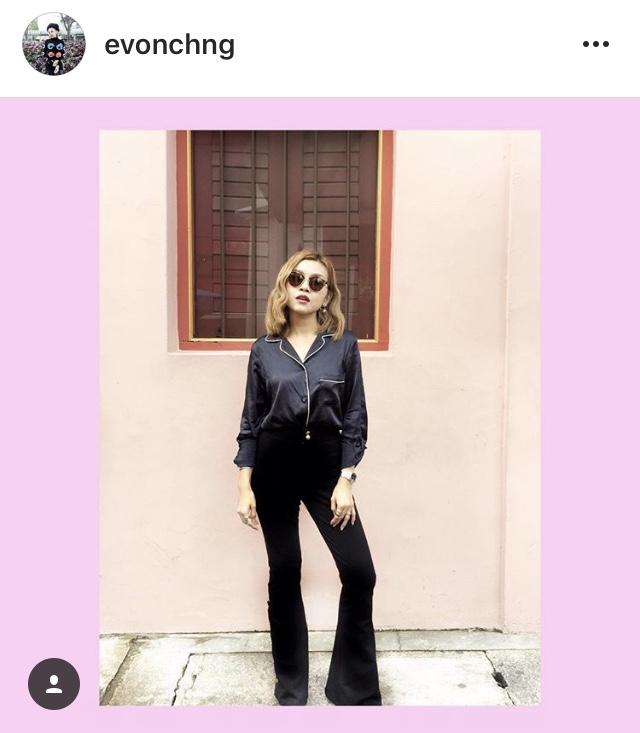 @evonchng EMMA Pajama Jacket in Midnight