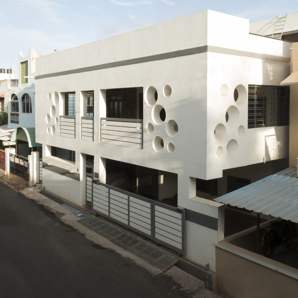 Facade for Mr.K.Raju Residence, Puducherry