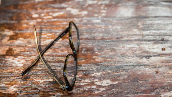 Image: Glasses lying on table