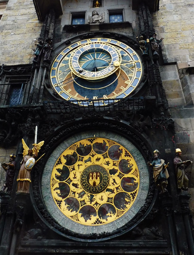 The Astronomical Clock.        Photograph: Alex  Bertulis-Fernandes