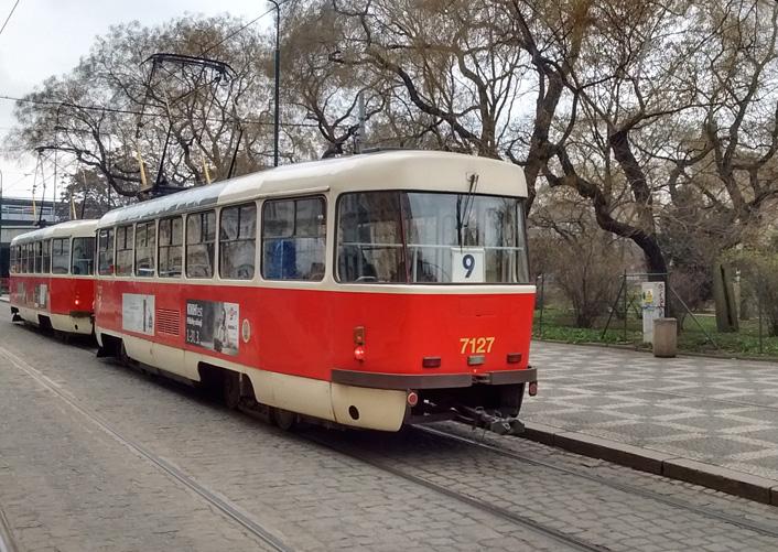 A tram departs.                          Photograph: Alex Bertulis-Fernandes