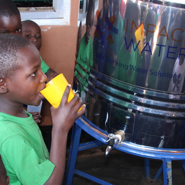 The Solution... - Despite significant advances in water access globally, most water is not reliably safe for human consumption and this is a fact that Ugandan schools know all too well. With fast-growing student populations, schools need reliable and affordable ways to make their water safe at the point-of-consumption. Enter Impact Water. Impact Water sells, installs and maintains environmentally-friendly water purification systems to schools on low cost, multi-year credit terms. This helps schools to avoid burning firewood for boiling water and therefore offsets CO2 emissions while reducing medical costs for the families by avoiding waterborne diseases. Improved student health enables students, and their teachers, to better focus on their education and their futures.And because Impact Water is technology neutral, it can offer a combination of products to schools to choose from which best meet their needs while ensuring adequate microbiological drinking water standards.