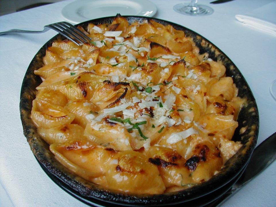 Baked pasta at Al Forno