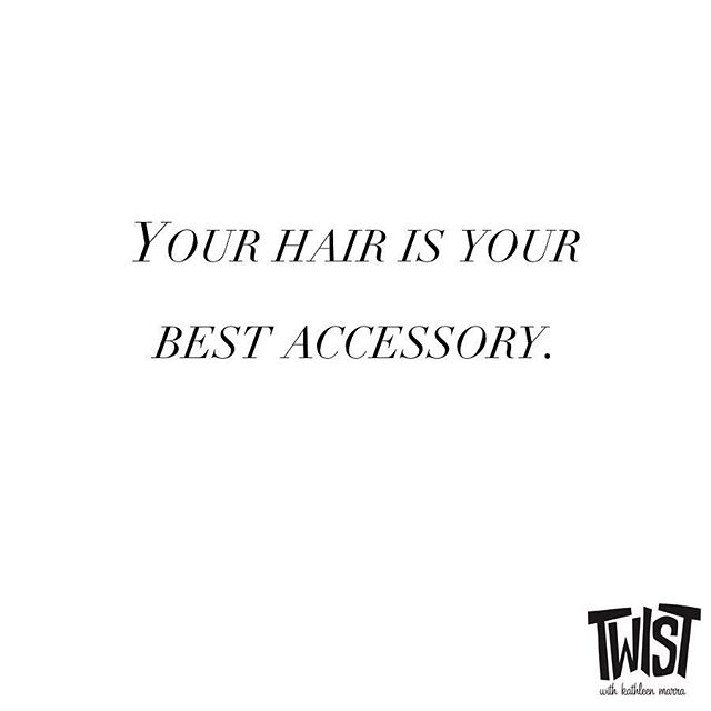 Yes, it is! #TwistKittery  ___ #hairdresser #portsmouthnh #kitteryme #kittery #quote #hairstylist #haircolor #olaplex #haircolorist #hairbesties #behindthechair #longhairdontcare #modernsalon #btcpics #phildoeshair #vscohair  #hairlife #balayage #blonde #blondhair #brunette #redhair #redhairdontcare #naturalhair #naturalista #curlyhair #thecutlife #hairlife #qotd #hairquote