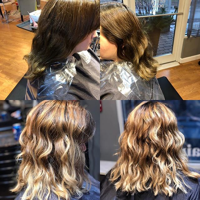 Though it was a rainy day I was able to brighten up my clients hair....