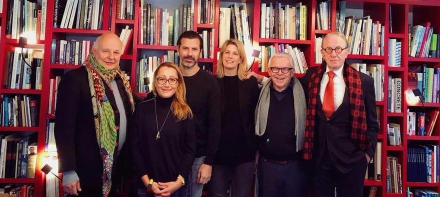 Rolf Sachs, Tanja Grandits, Andreas Caminada, Sarah Leemann, Hans Peter Strebel und Beat Curti (von links nach rechts)