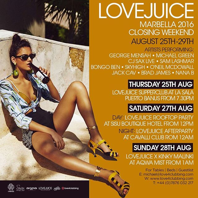 New Marbs dates for Lovejuice. @tagdesignuk