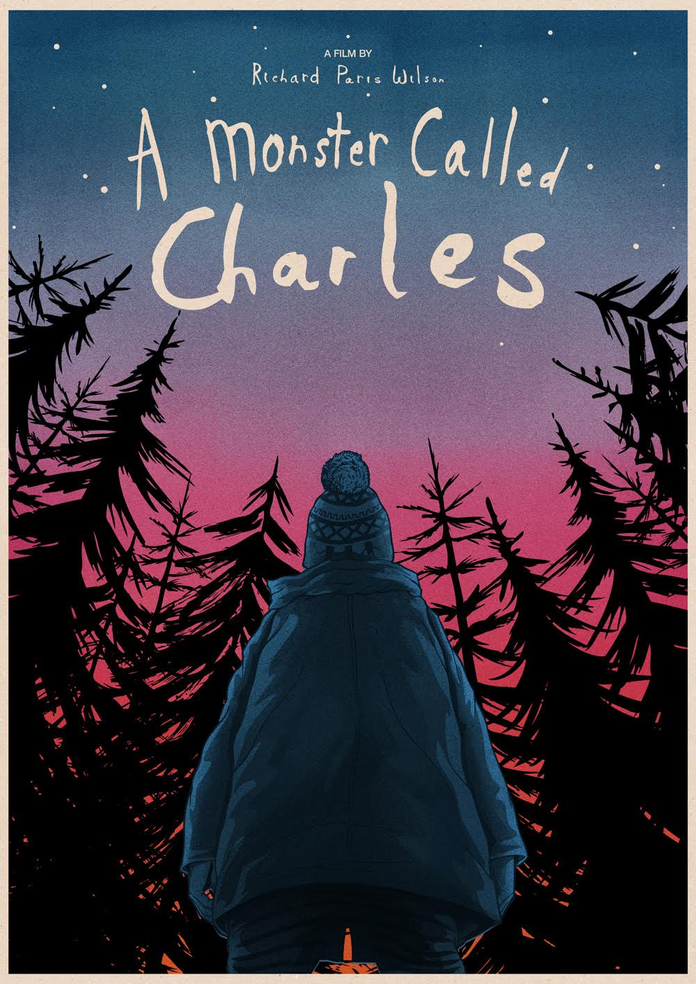 Proud to have the amazing Matthew Griffin create the poster for my short film 'A Monster Called Charles'