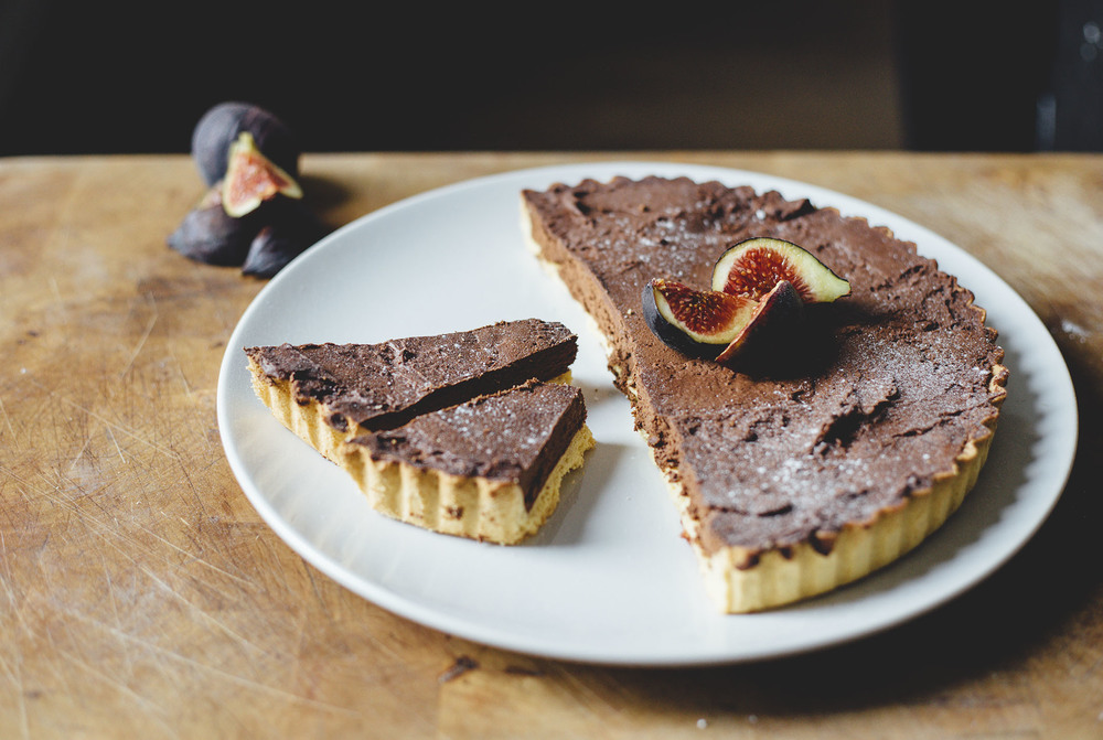 dad's chocolate orange tart