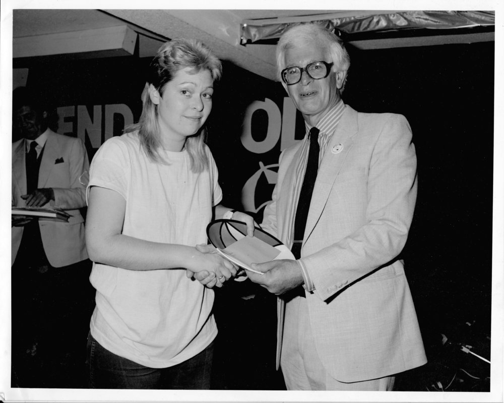 Sally wins the Kendal Songsearch Competition 1986