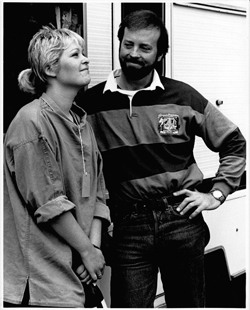 Sally with Jerry Donahue of Fairport Convention 1989