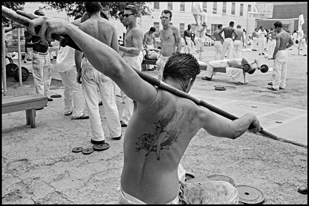 The Yard. From Conversations with the Dead, 1968.© Danny Lyon