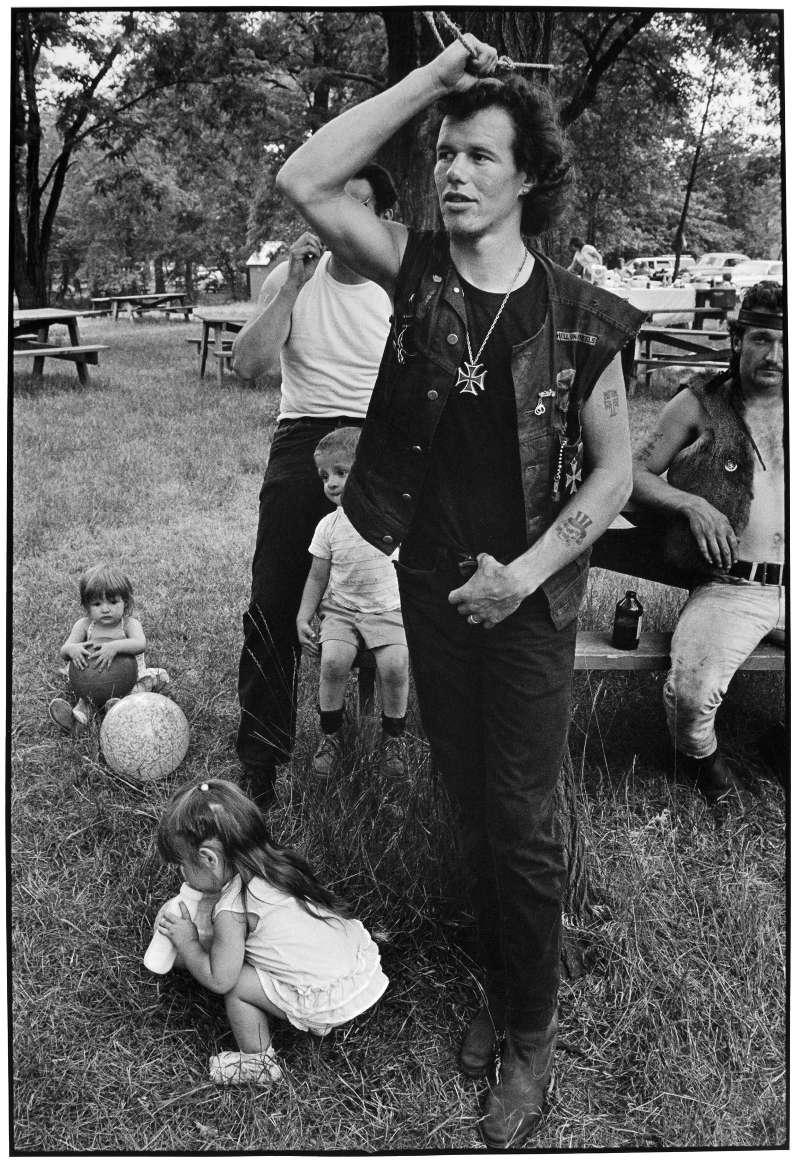 Cowboy at Rogues' picnic, South Chicago, 1968.© Danny Lyon