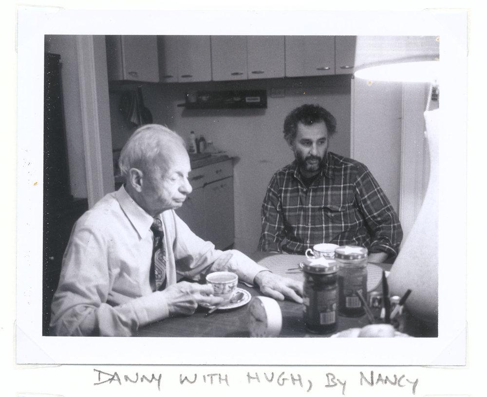Danny Lyon and Hugh Edwards, Chicago, 1985. Photo by Nancy Lyon