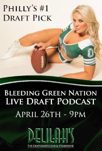 PRE-DRAFT PARTY NEWS:  We will be at  Delilah's  on Wednesday, April 26th for a BGN Radio  PRE-DRAFT  Party and broadcast. Stay tuned for more updates on the  actual  draft party on the night of the draft!