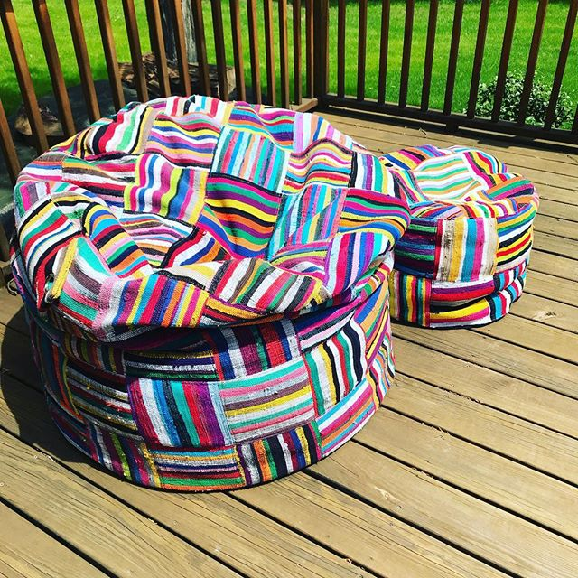 #fun#beanbags#colourful#comfortable#ashanti#upcycled#africafrolic.com
