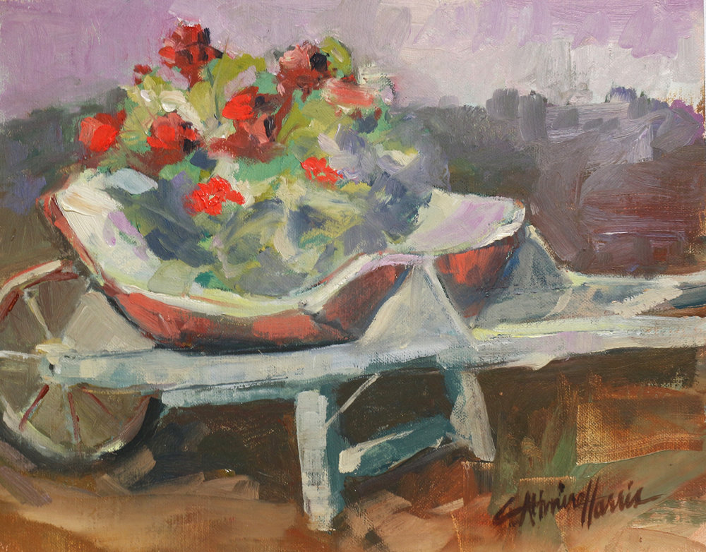 Wheelbarrows and Geraniums