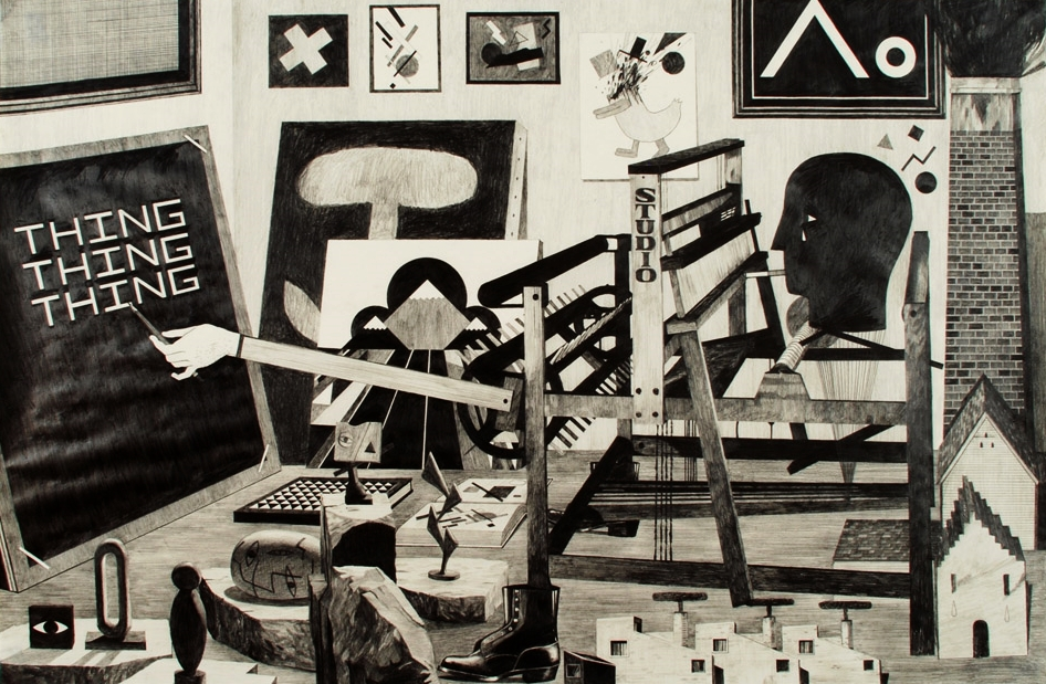 Artist in a Studio (Mass Production), 2009