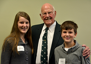 Guyer with family in 2014. Photo courtesy of MSU Department of Entomology.