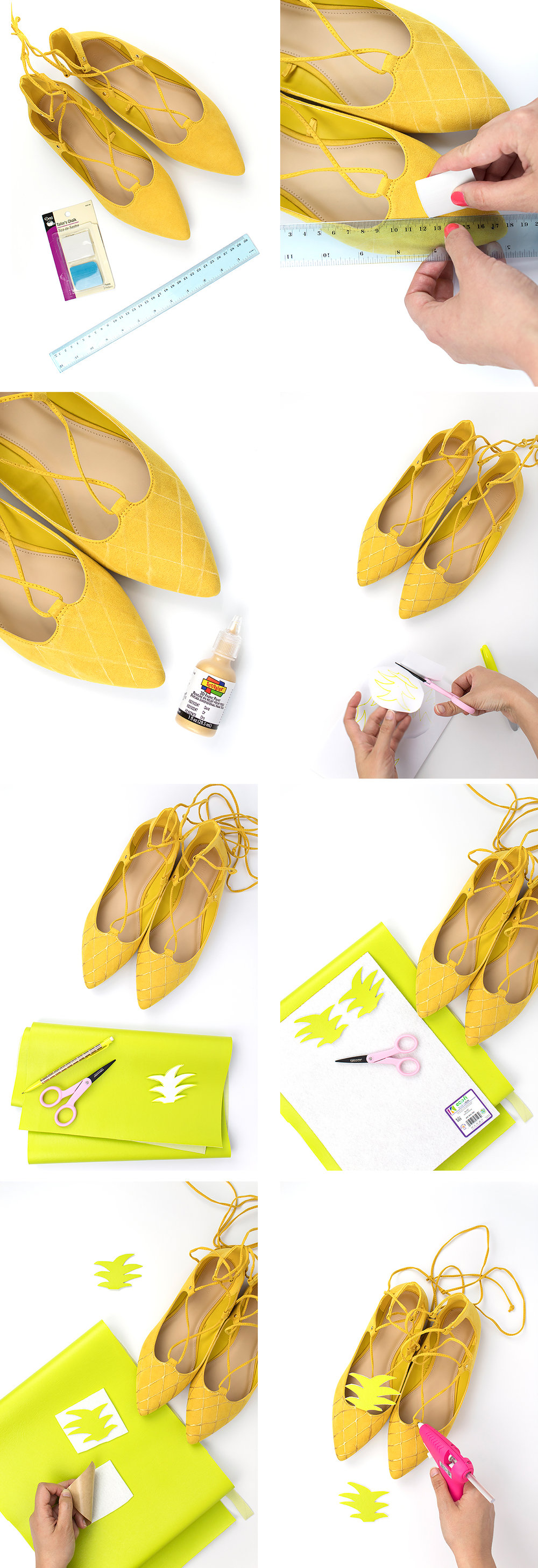 When it comes to summer shoes, I think the quirkier, the better. That's why I am head over heels in love with these pineapple shoes! Click for the DIY.