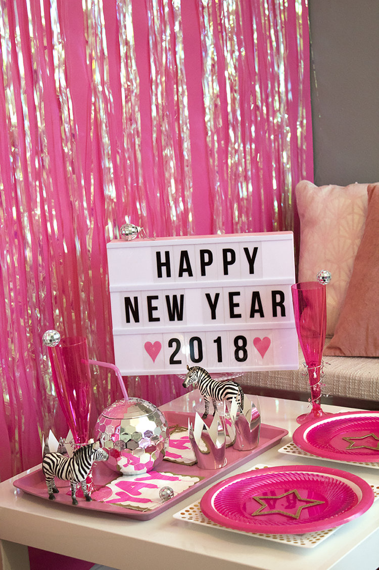 Pink Disco Ball New Year\'s Eve Party — Party HarDIY