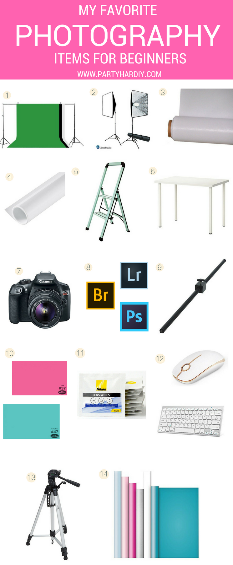 Looking to improve your photography? I've got my essential items for beginner photographers that are super affordable! #photographytips #photography101 #betterphotography