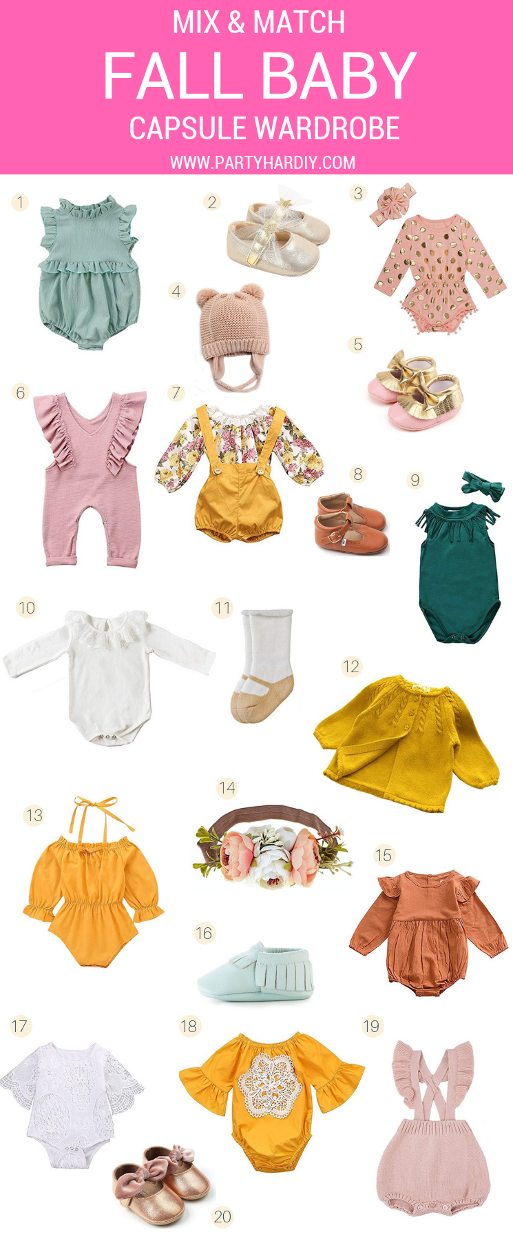 Now that I've got a super cute little baby, I'm so excited for all the adorable outfits I can put her in! I've rounded up some of the cutest fall looks for your sweet little babe, which I think adds up to the perfect fall capsule wardrobe. The best part is that all these items can be found on Amazon, PLUS most of them are Prime! So what are you waiting for? Let's go shopping!