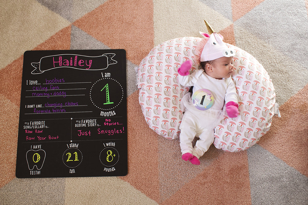 I can't believe it- Hailey is already a month old!! Click through for the full update.