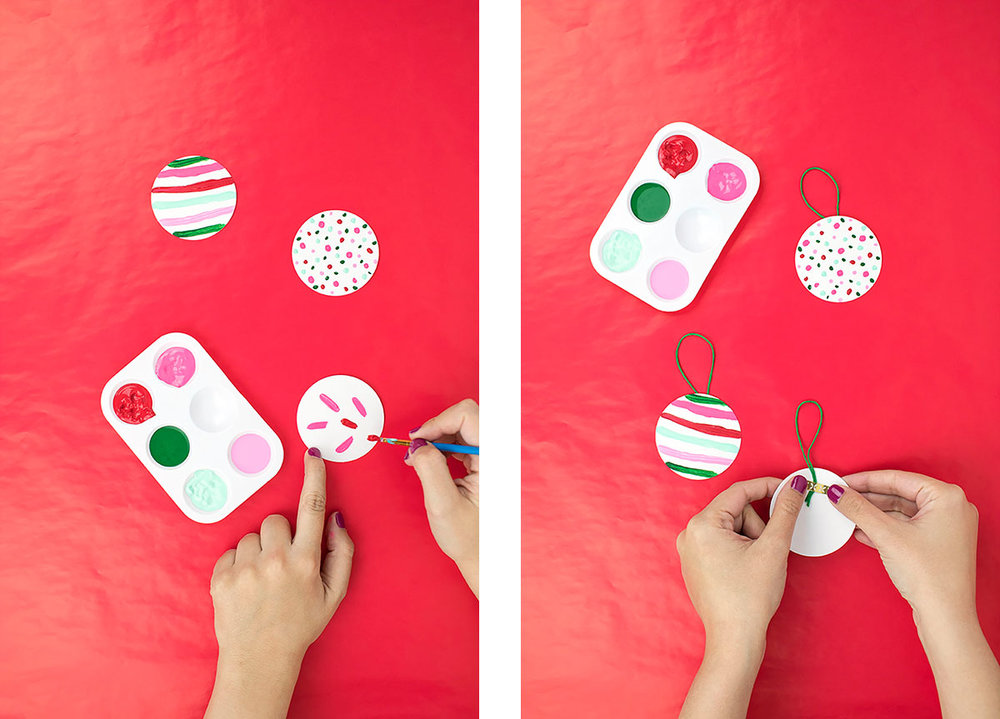 "Don't be a ""sharpie on the wrapping paper"" type of gal! These tags are easy-peasy to make, with just some paint and cardstock. Click to see the full DIY."