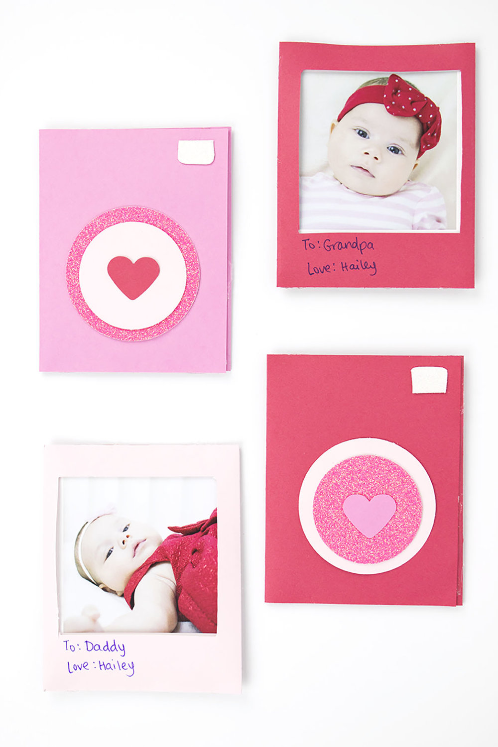 These DIY polaroid valentines are perfect gifts for everyone in the family! It's an easy DIY project to pop into your valentine box and make everyone jealous! #valentines #photovalentine #diyproject