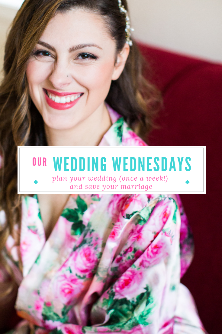 Wedding Planning can be stressful! Find out my wedding planning hack to plan your wedding once a week and save your marriage! #weddingplanning