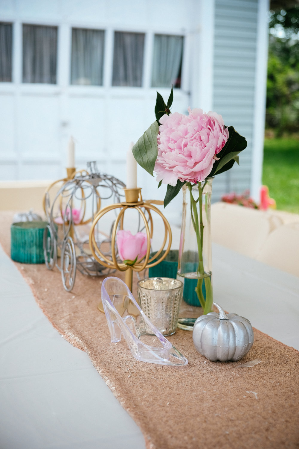 If you're thinking of throwing a Disney themed wedding or engagement party, look no further! There are tons of ideas, as well as tips to make your party unique and cohesive. Click to see the full post, with lots of other photos!
