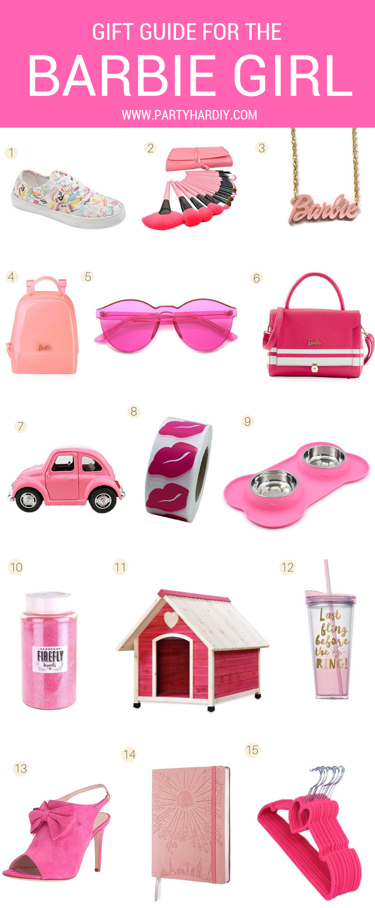 Make your life a little more Barbie Pink with these awesome items! You've got barbie shoes, pet care, and even closet organization! We could all use a little more glam in our lives. #barbieshoes #barbieclothes #shoppinglists