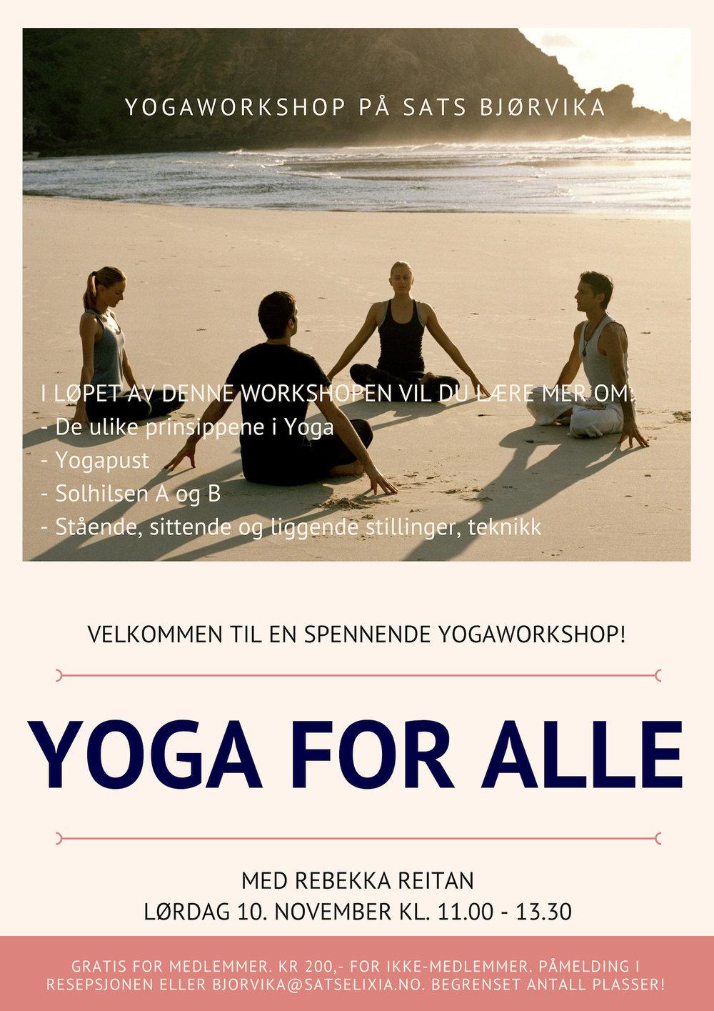 yoga for alle yogaworkshop oslo rebekka reitan yogalærer