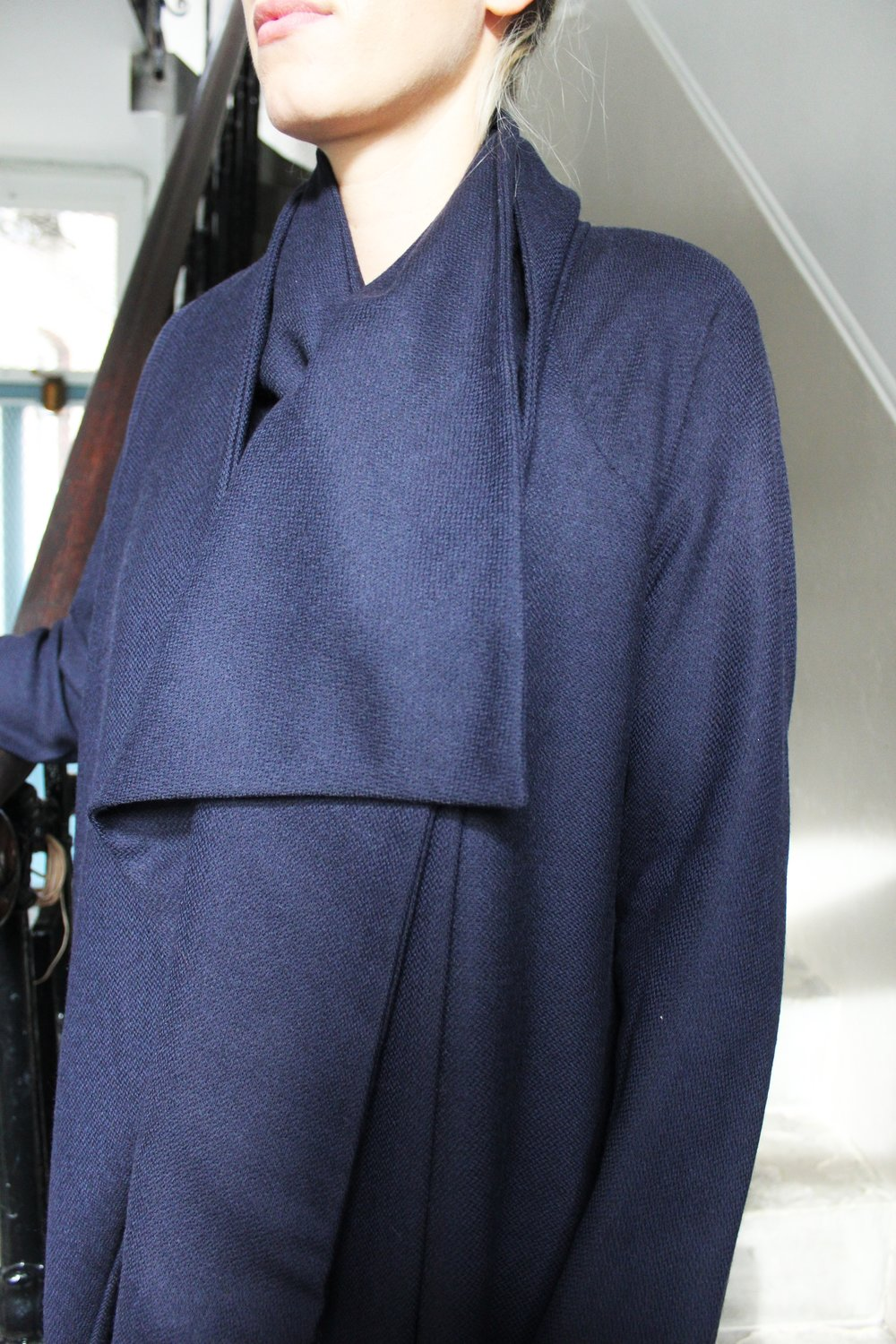 """HIDDEN IDENTITY""  - Light weight Merino wool coat"