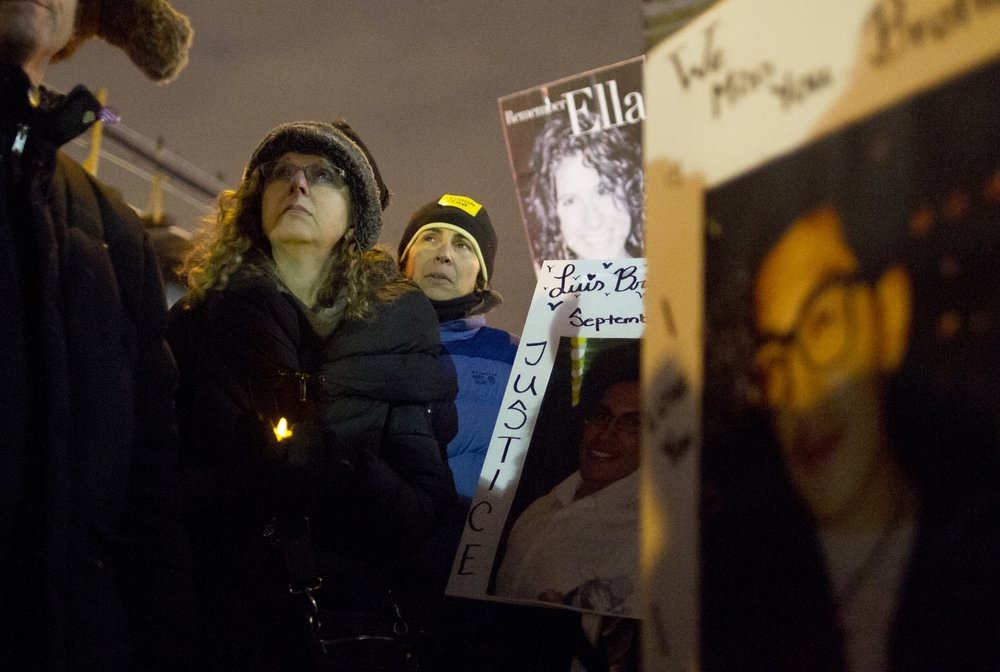 Judy Kottick at a vigil for her daughter, who was killed by a car. Shot for  BKLYNR , 2014.