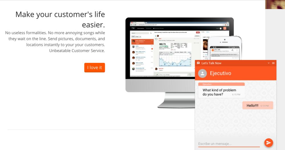 Un chat en tu sitio web privado o público para estar siempre conectado con tus clientes