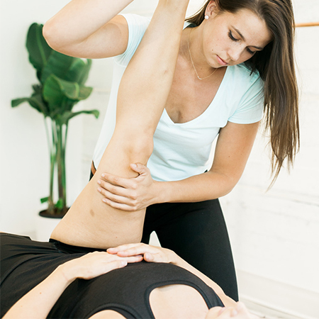 Regular deep-tissue sports massage