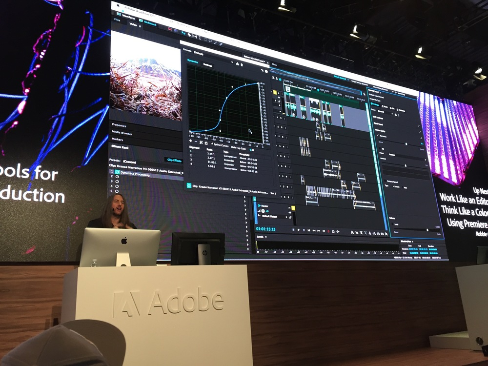 Jason Levine shows new tools within Adobe Audition.