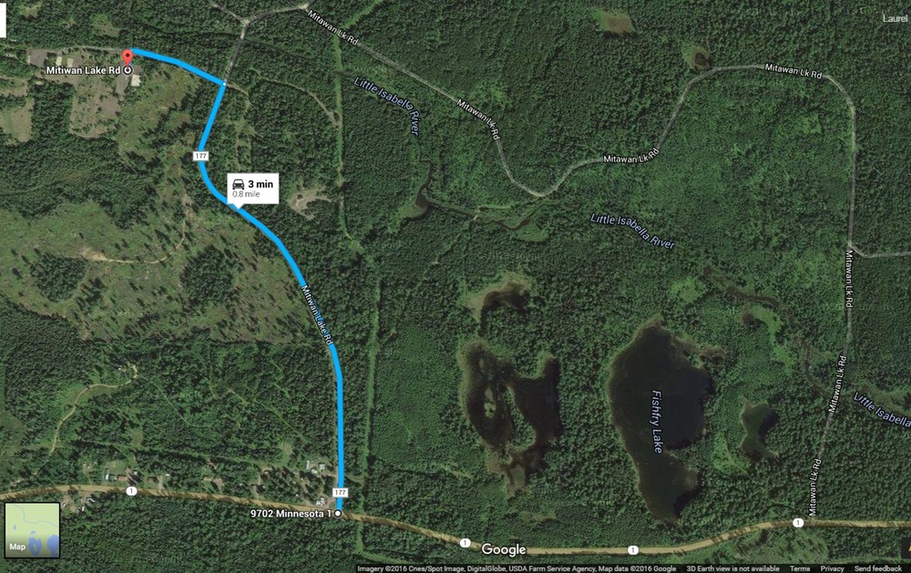 Directions from HWY 1 to old Isabella ELC